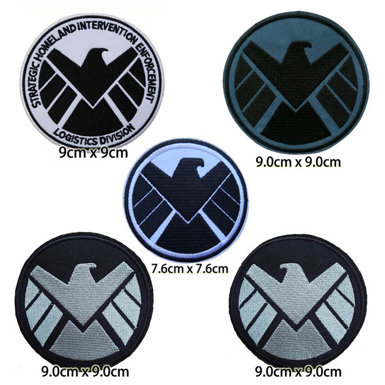Avenger headquarter S H I E L D Logo Iron On Patch Agent Of SHIELD Eagle
