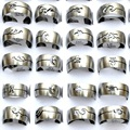 6Pcs Mix Lots Fashion Stainless Steel Rings for Men Punk Cool Design Wholesale Fashion Jewelry  Anello Ring