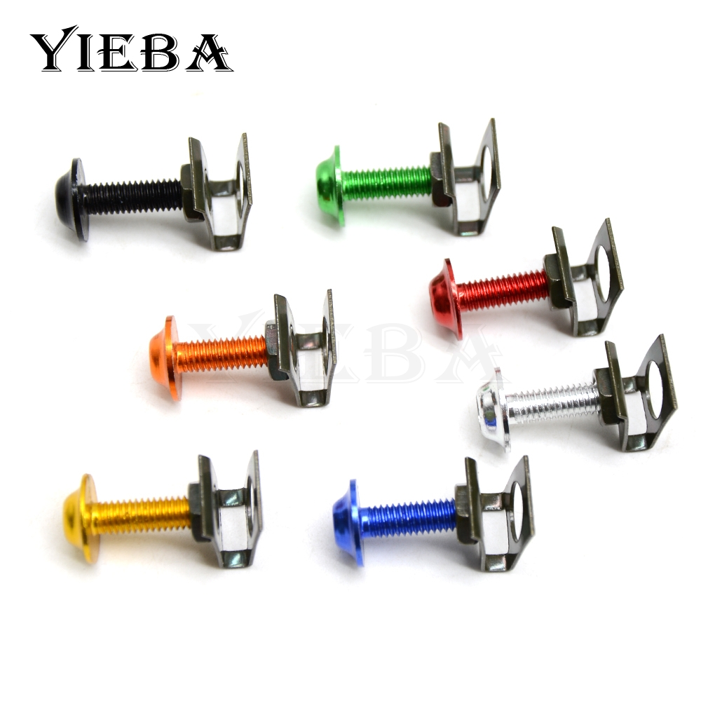 6mm Motorbike CNC Fairing body work Bolts Screws 5 pcs For Yamaha XJR1300 FJR1300 FJR XJR 1300 Super Tenere XTZ1200 XV1100