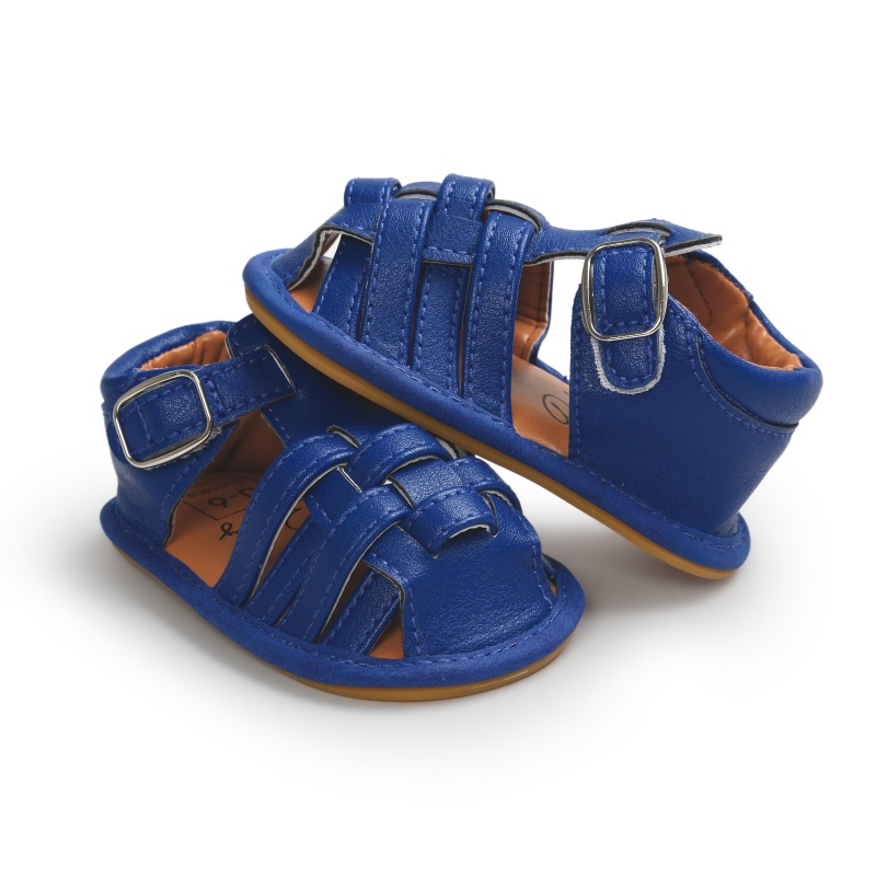 New Summer New Baby Breathable Infant Girls Boys PU Leather Soft Sole Crib Shoes Prewalker Sandals P1
