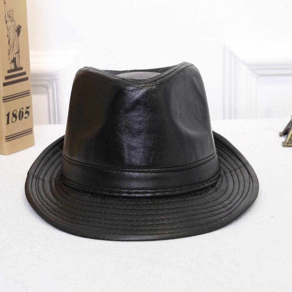 Jamont Otoño Invierno hombres mujeres Classic pu cuero Bowler sombreros  estilo británico Panamá Bowler sombrero de vaquero Caballero casual  sombreros en ... caa8b0b82f9