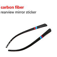 2018 Carbon Fiber Rearview Mirror Stickers Anti Scratch Strips Exterior Mouldings For Bmw 1 2 3