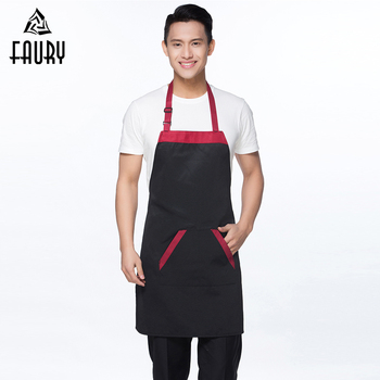 Unisex Custom LOGO Chef Waiter Aprons Cook Kitchen Catering Apron Restaurant Cafe Waiter BBQ Hairdresser Aprons Gift Bibs 2018 фото