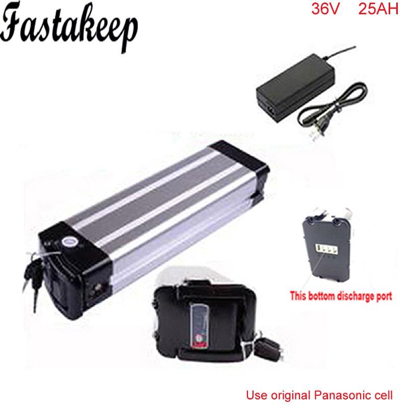 Vidange par le bas au lithium batterie 36 v 25ah batteries pour scooter électrique 36 v 1000 w batterie avec chargeur Pour Panasonic Cellulaire
