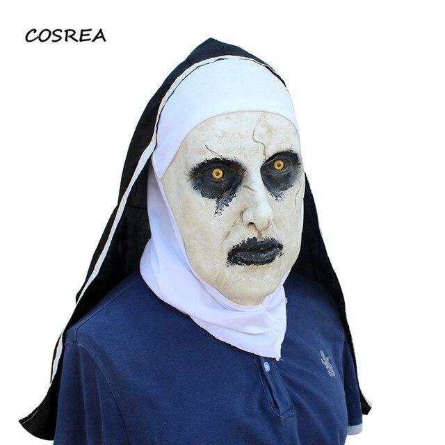 Movie The Town Nun Halloween Nun Cosplay Costumes Adult Horror Mask