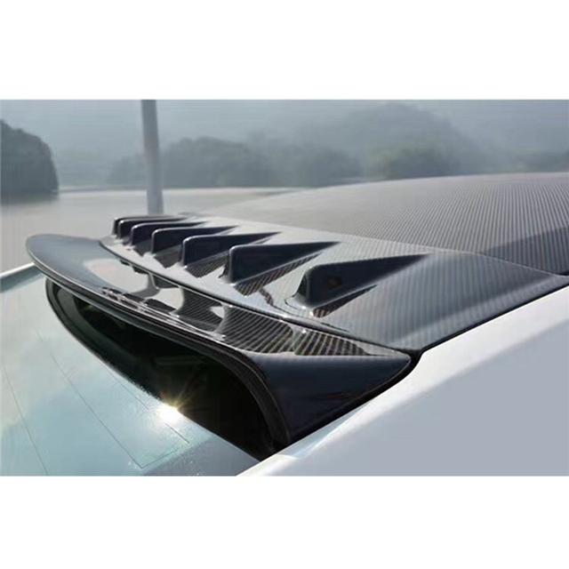 Roof Spoiler Carbon Fiber Roof Wing Shark Fin Roof Antenna