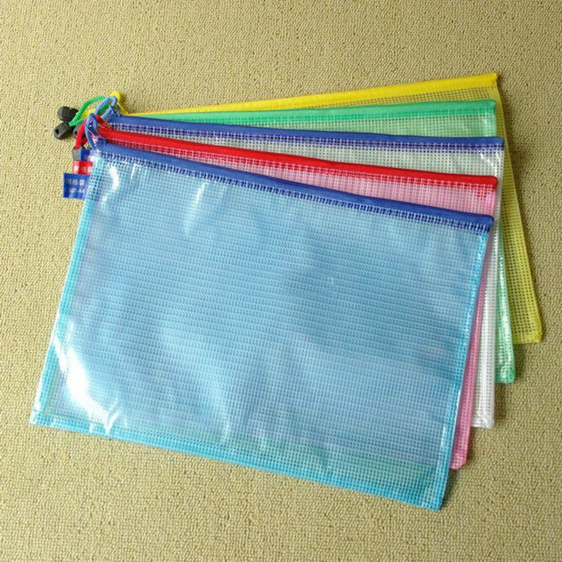 5pcs/lot A4 A5 Size PVC Plastic Transparent Cartoon Design Student Pencil Bag Stationery Office Receipt Document Pouch S18157