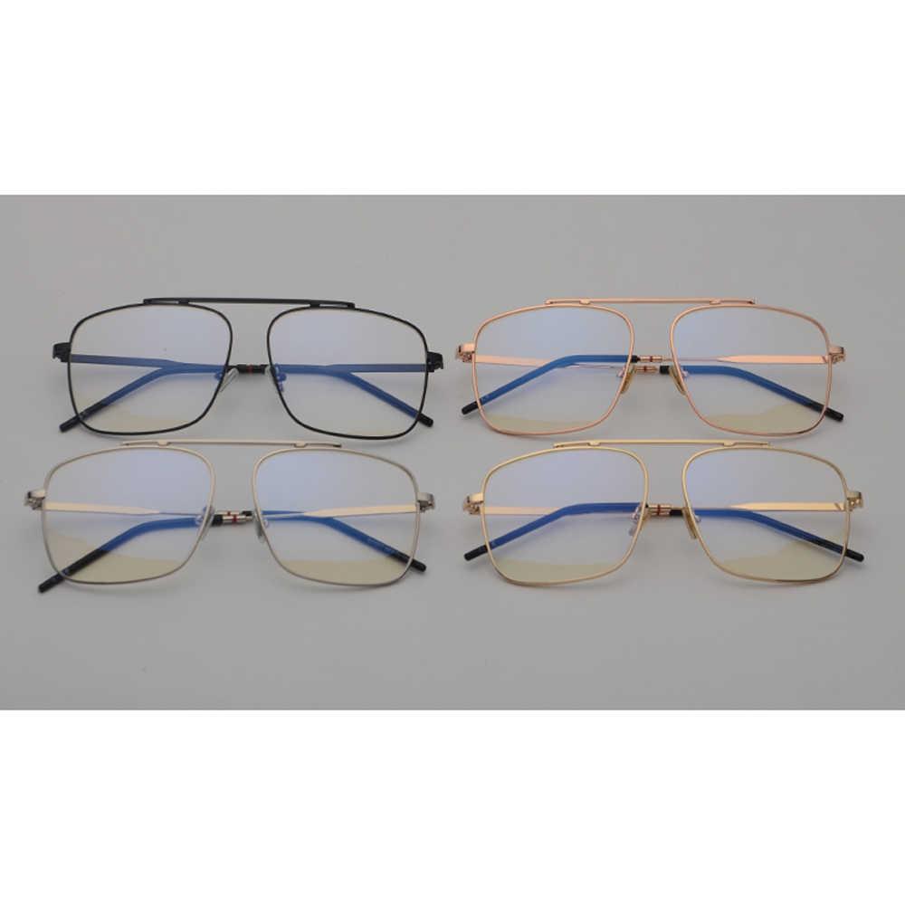1f6425a305d ... Peekaboo square glasses frame women gold metal 2018 brand designer flat  top big eyeglasses optical frame ...