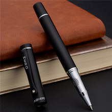 Matt Black Business Pen 0.5mm Black/Blue Ink High Quality Metal Ballpoint For Student Gift Office Stationery Supplies