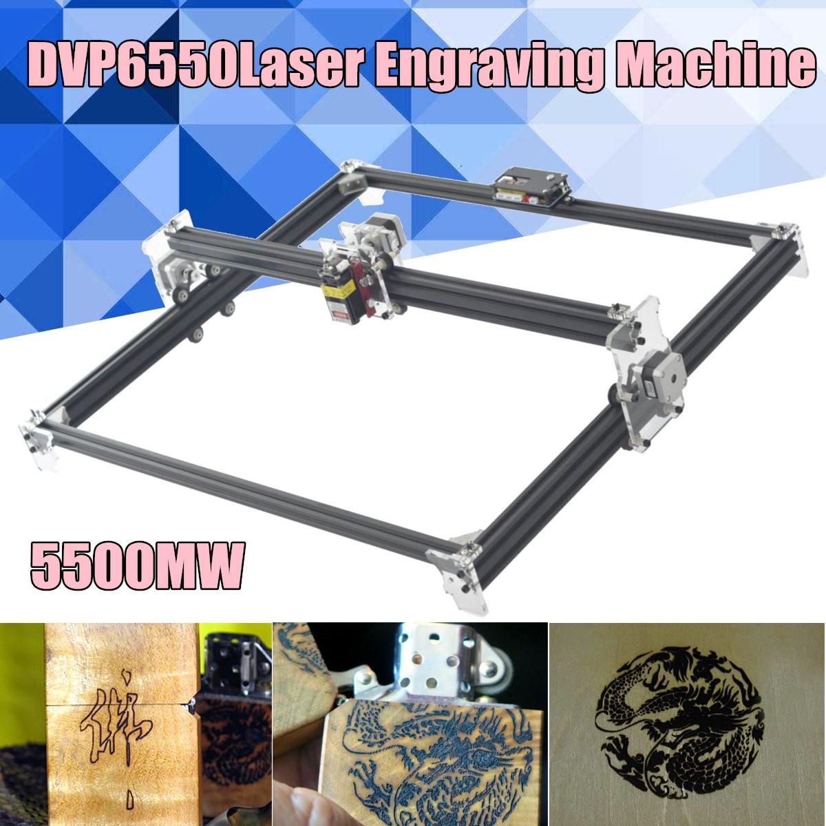 2-Axis DVP 6550 Macchina Per Incisione Laser 5500 mw, FAI DA TE Laser Engraver Machine, macchina del Router di Legno, laser Cutter, CNC Router