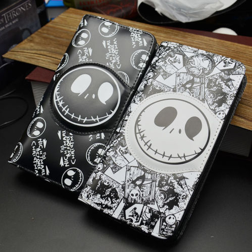 Nightmare Before Christmas wallet JAKE coin zip leather long girl's Purses long style pu wallet of the nightmare before christmas skull jack with button and multi layer