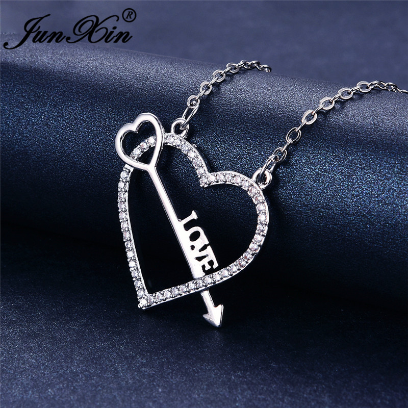 925 Silver Tiny Cute Arrow and Bow Pendnt Necklace Chain Women Jewelry Gifts