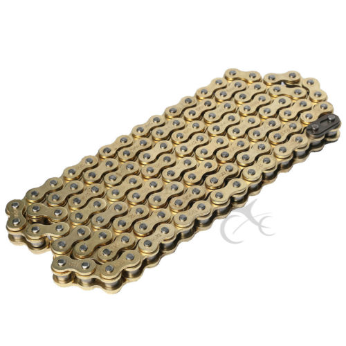 New Motorcycle 520 O-Ring Gold Drive Chain 120 Links 520 X 120 With Masterlink цены