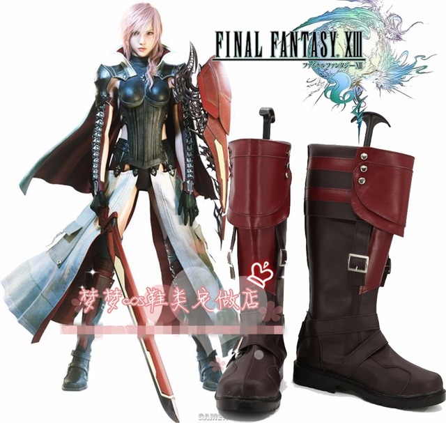 Lightning Returns: Final Fantasy XIII Lightning Cosplay Shoes Boots Custom Made