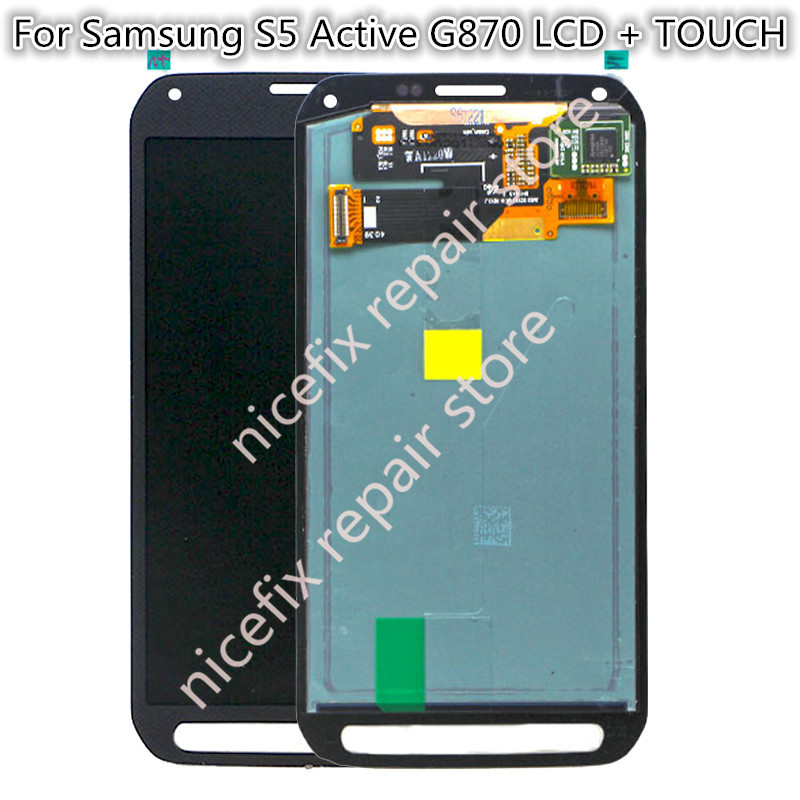 Super Amoled For Samsung S5 Active G870 G870A lcd Display Touch Screen Digitizer assembly For Samsung Galaxy G870A LCD-in Mobile Phone LCD Screens from Cellphones & Telecommunications    1