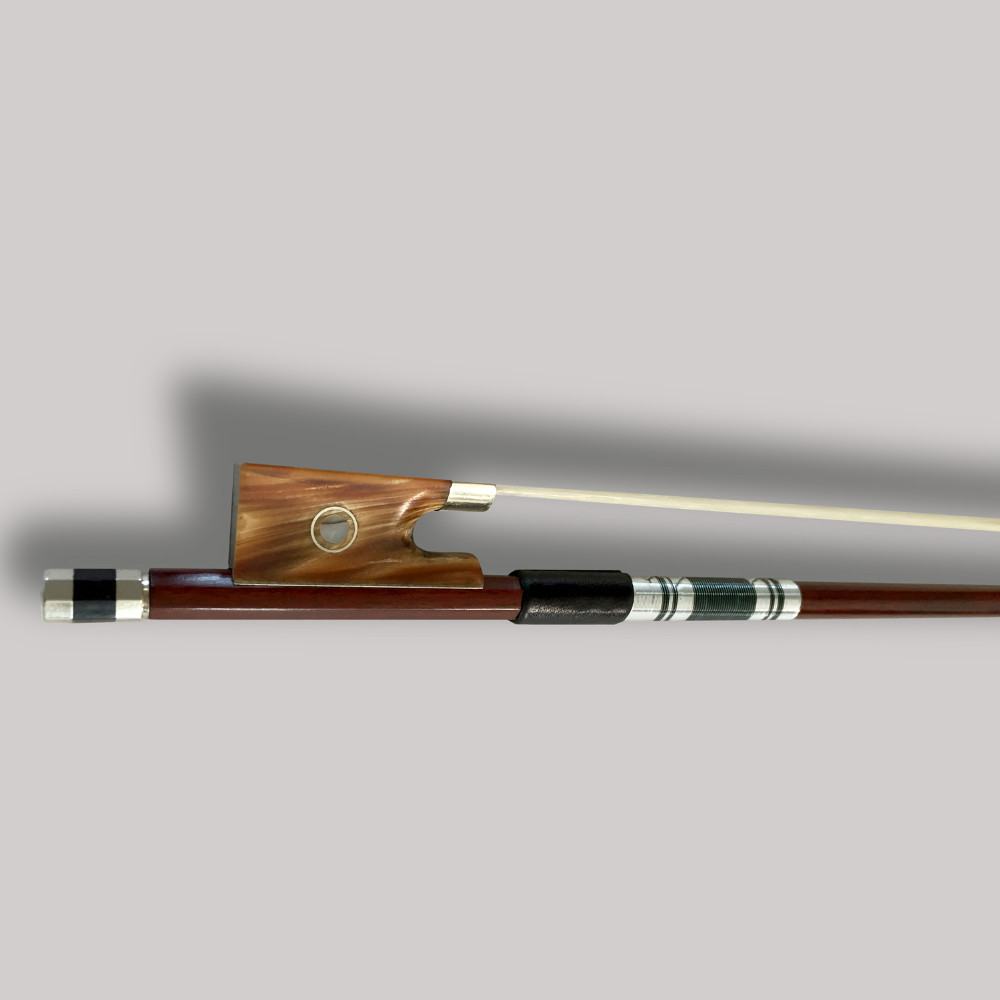 High Quality 4/4 Brazilwood Violin Bow Exquisite White Horse hair Fiddle Bow Ebony Handcraft Ox Horn Frog w/ Colored Shell Bow 60 hanks stallion violin horse hair 7 grams each hank 32 inches in length