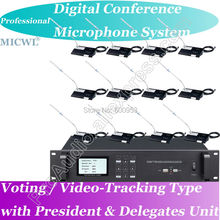 Top-Ranking MICWL A550 Voting Video-tracking Teleconference Digital Conference Microphone System Chairman+ Delegate  Unit
