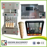 Pizza Cone Maker Making Machine 4 Heads Spiral Cones Oven Roaster Pizza Cone Container