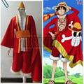 One Piece 15-я Юбилейная Обезьяна D Луффи Косплей Костюм Полный Комплект С Hat Сшитое Любой Размер
