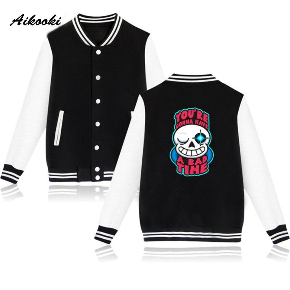 Aikooki Undertale 2018 Classic Game Baseball Jacken Sweatshirts Frauen/Männer Einheitliche Herbst Winter Anime Lässige Outwear Kleidung