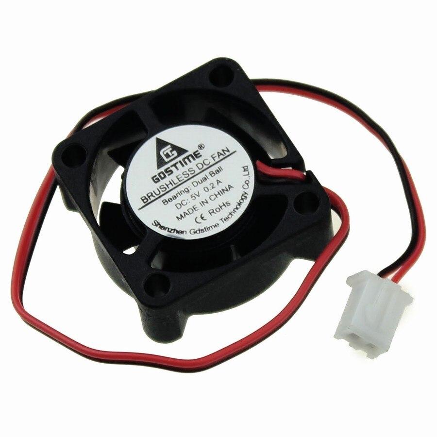 Brushless DC Cooling Fan 5 Blades 2510B 12V 2Pin 25mm 25x25x10mm Ball Bearing