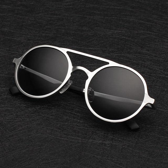 Free shipping glasses New Fashion glasses men Fashion  retro Goggle Polarized glasses aluminum Sunglasses  5 colors glasses