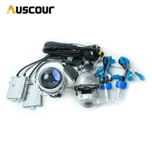 3.0inch hella5 car Bi xenon hid Projector lens 55w 6000K AC xenon kit ballast D2H xenon bulb conversion kit  car assembly Modify