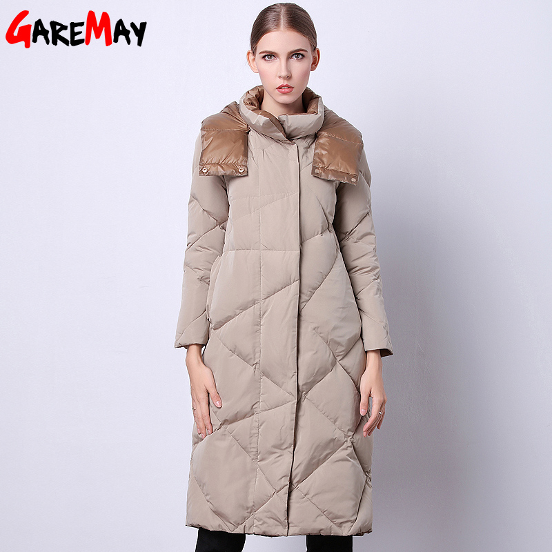 Womens Winter Jacket 2017 Fashionable Clothing Sale Long Quilted Parka Duck Down Feathers Korean Style Warm For Ladies