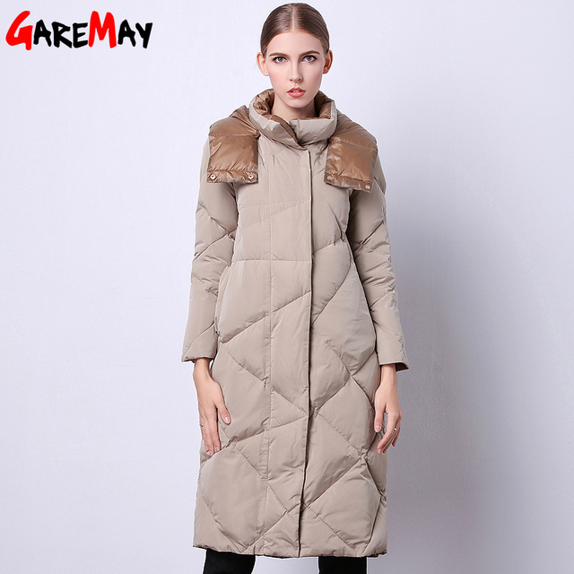 Women's Winter Jacket 2016 Fashionable Clothing Sale Long Quilted Parka Duck Down Feathers Korean Style Warm For Ladies