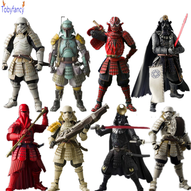 Star Wars Action Figures Sic Samurai Taisho Darth Vader Boba Fett Stormtrooper 170mm Realization Anime Star Wars Toys Gift
