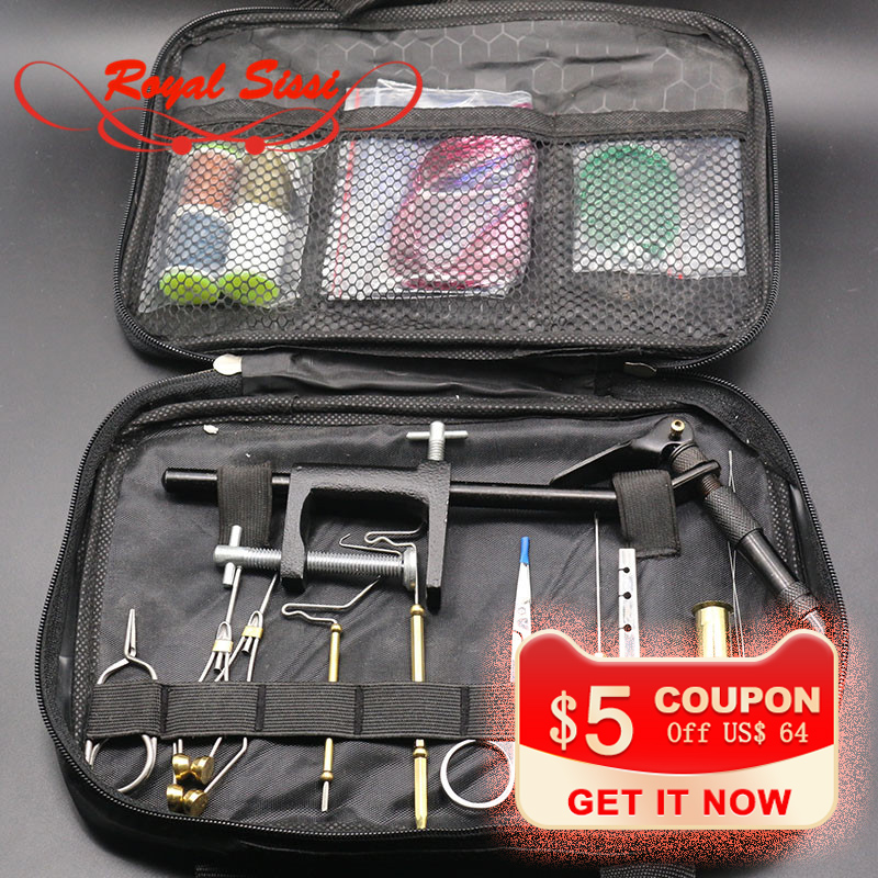 Fly Fishing Tying Tools Kit in Portable Bag Including Vise bobbin hackle pliers hair stacker and Fly tying materials accessories bobbin gill jaidev singh dhillon and amita saini regenerative endodontics