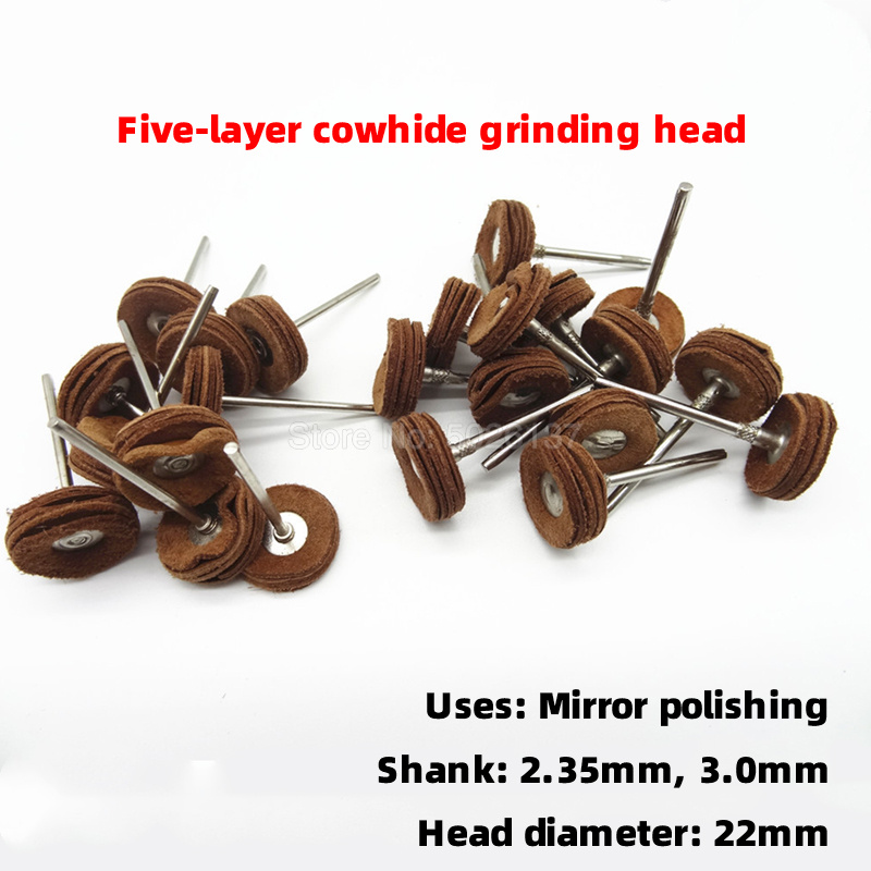 1Pcs 2.35MM-3.0MM Shank 5 Layers Leather Polishing Buffing Wheel Brushes Grinding Pad For Rotary Tools Cowhide Mill Tool