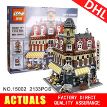 Lepin 15008 15007 15002City Street Creator Green Grocer Model Building Kits Minifigure Blocks Bricks Compatible 10185 Boy toys