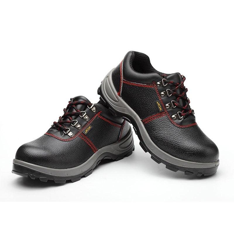 Herren Stiefel Leder 2019 Echtem Leder Männer Arbeiten Stiefel Sicherheit Schuhe für Männer Anti Slip Turnschuhe Schuhe Schutz Schuhe - 4