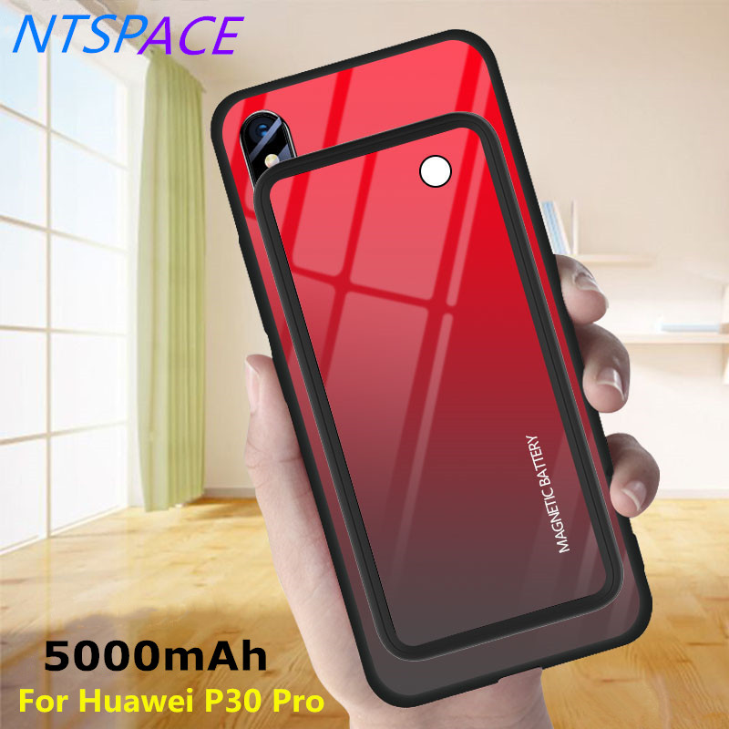 Wireless Magnetic Power Bank Charging Case For Huawei P30 Pro Battery Charger Cases 5000mAh External Back Clip Battery CoverWireless Magnetic Power Bank Charging Case For Huawei P30 Pro Battery Charger Cases 5000mAh External Back Clip Battery Cover