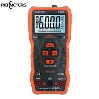 RM113E multimètre numérique automatique 6000 comptes analogie barre aimant AC/DC tension mètre continuité Flash lumière rétro-éclairage