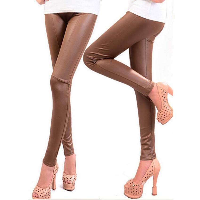 Spring Winter Faux Leather Leggings For Women Lady Leggins Pants New Sexy Fashion Wholesale Women Pants JH852111
