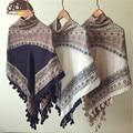 2016 Women Autumn  Winter Ethnic Scarves Shawls pashmina Lonely patients girl Printed Foulard Femme130cm*130cm