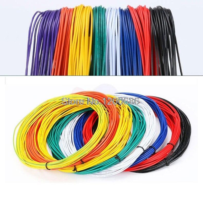 UL 1007 24AWG Черный 10 метров 24AWG UL1007 гибких электронных проводов 24 awg 1,4 мм ПВХ электропроводка DIY ремонт кабель подключения