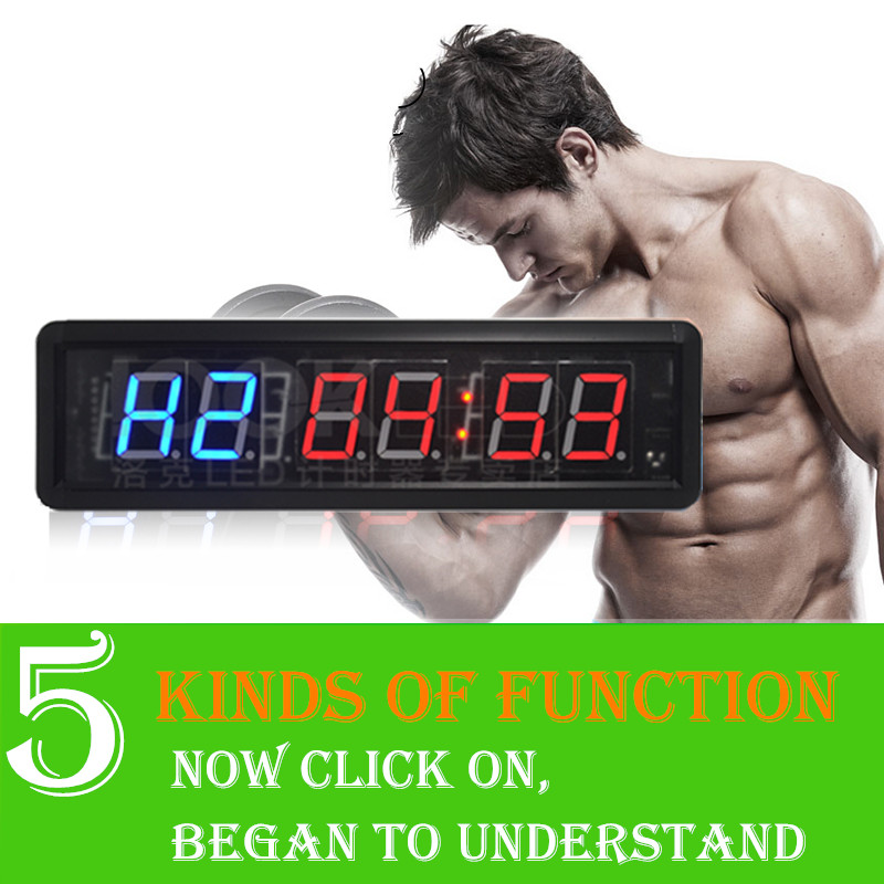 1.8 Inch Remote 6 Digits Display Countdown Clock Count Up Countdown Timer For Researched And Swim Use Stopwatch Gym / Boxing Gym