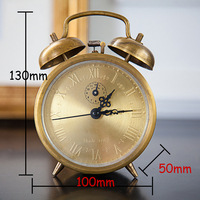 Needle Student Bedside Refinement Pure Copper Loud Voice Mechanical New Creative Retro Alarm Clock Witfamily Store