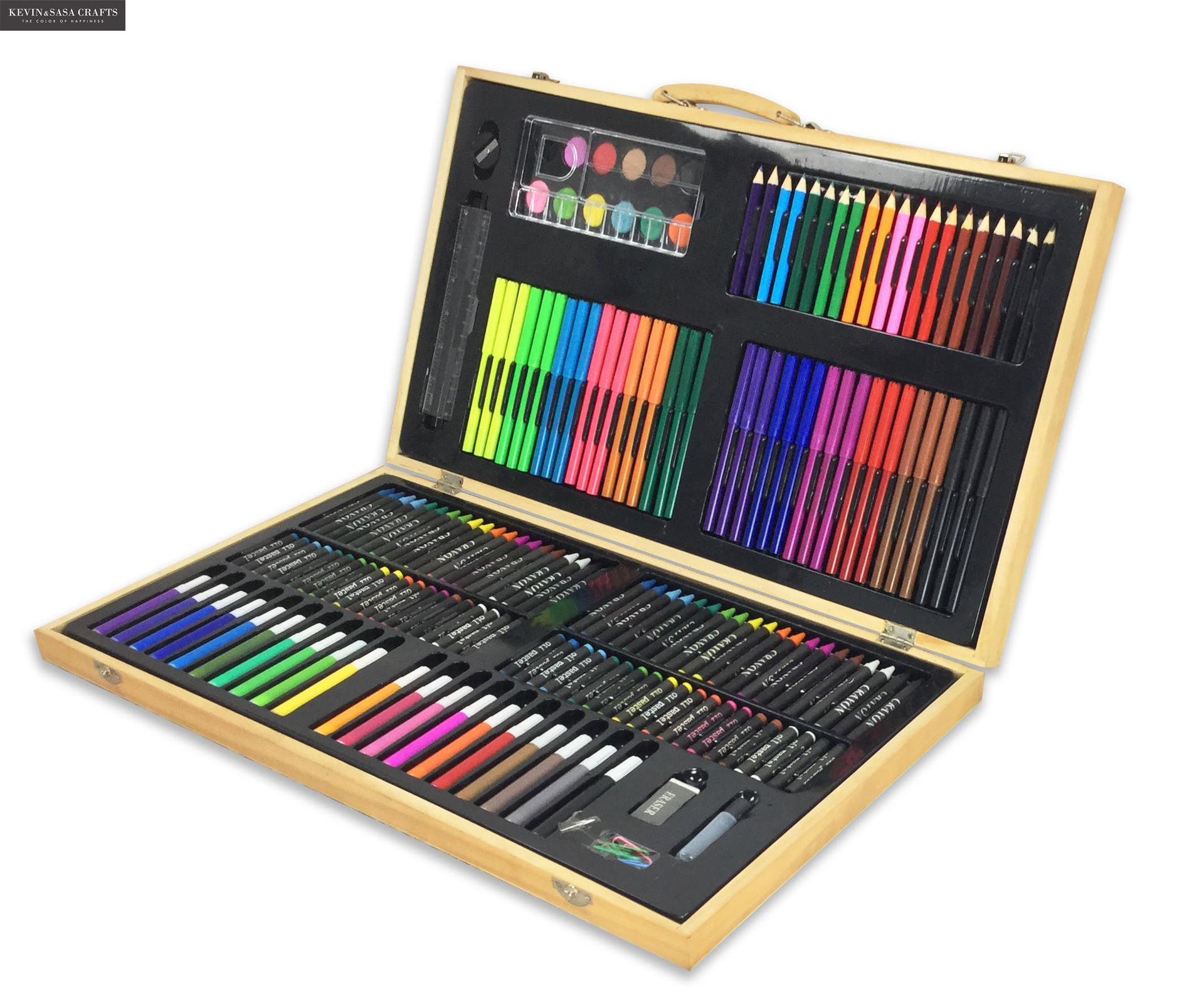 180in1 ensemble de Crayons de couleur pour enfants ensemble d'art pour enfants qualité enfants fournitures scolaires artiste crayon boîte stylo enfants papeterie