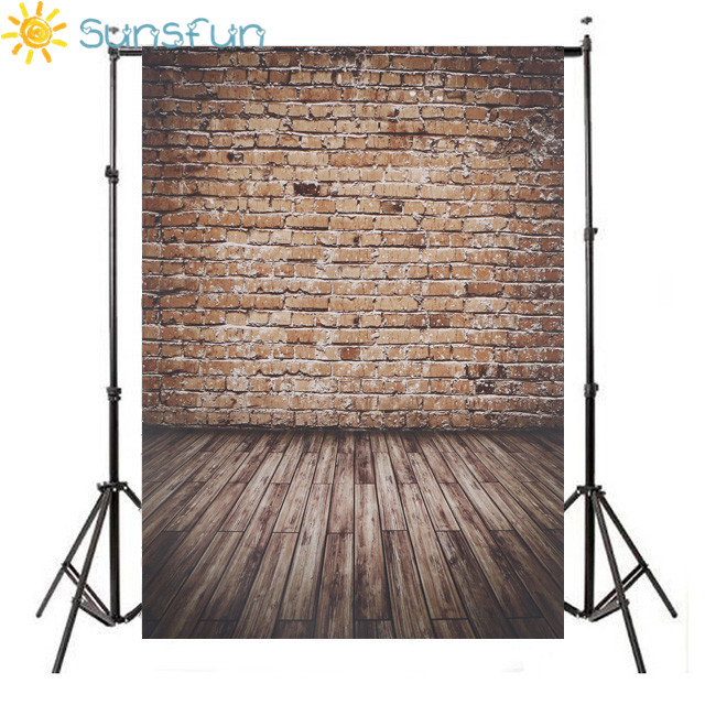 sunsfun photography backdrops 150 215cm 5 7ft broken wooden bricks wall background vinyl. Black Bedroom Furniture Sets. Home Design Ideas