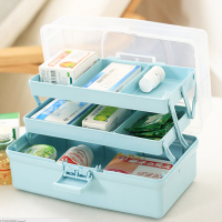 Portable three-tier multi-functional medicine box/High capacity classification Home storage box