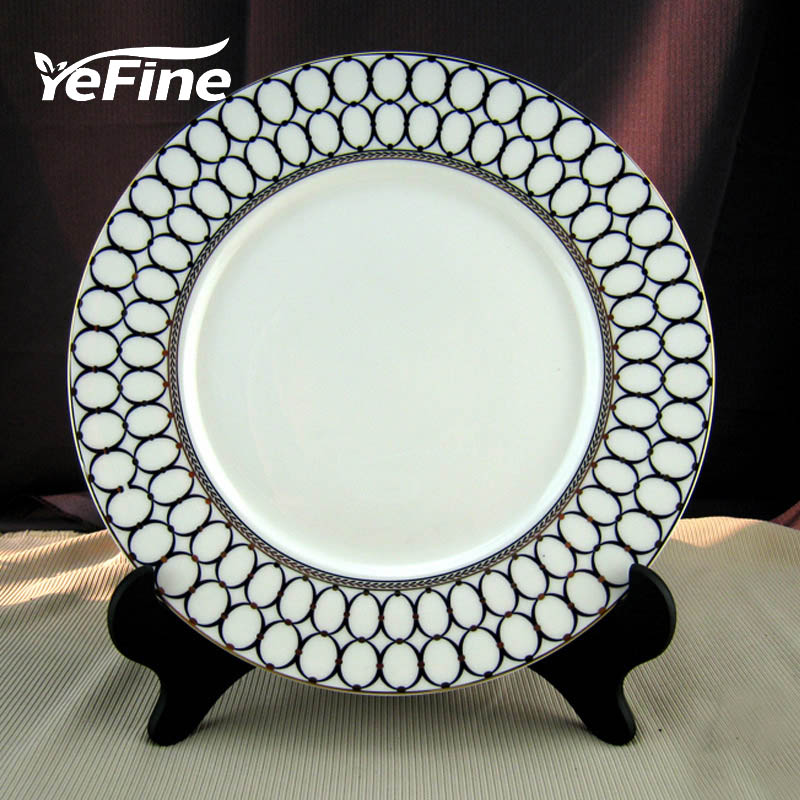 Yefine Ceramics Dishes And Plates Sets Porcelain 10.5 Dinner Plate High Quality