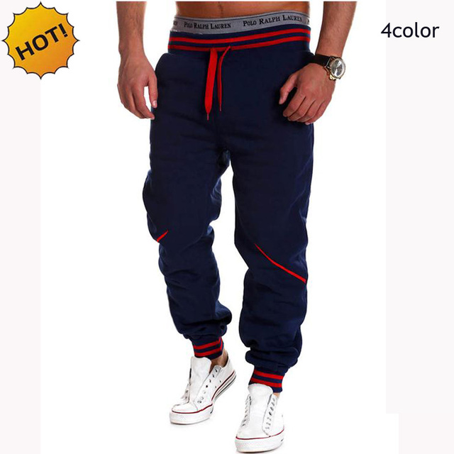 Joggingbroek Baggy Heren.Hot 2019 Mode Lente Herfst Sport Running Gym Stretch Hip Hop Joggers