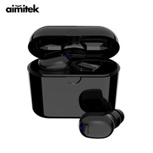 Aimitek 570-TWS Bluetooth 5.0 Headset Mini True Wireless Stereo Earphone Handsfree Car Earbud Charging Box with Mic for Phones mini ip8 tws bluetooth earphone true wireless earbud stereo music headset hands free with charging box for samsung iphone single