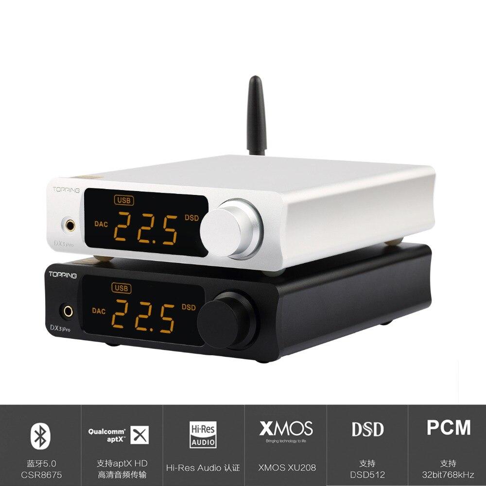 GARNITURE DX3 PRO DX3PRO De Bureau Bluetooth décodage amp AK4493 USB DAC XMOS XU208 DSD512 dur solution Casque sortie OPA1612