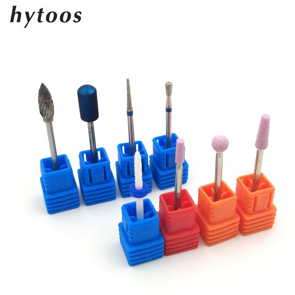 HYTOOS 8 STKS Diamond Nail Boor 3/32