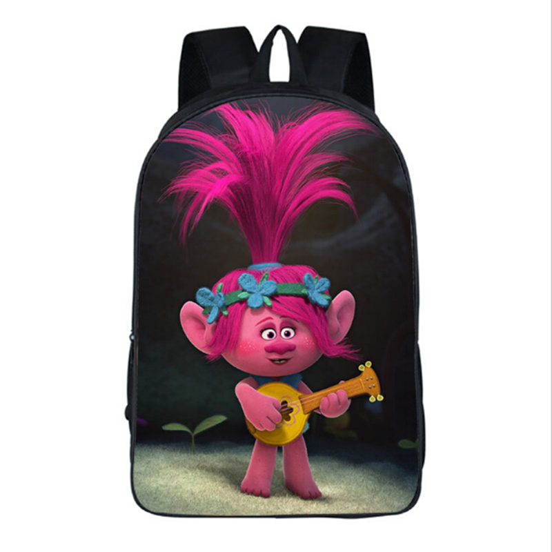New Cartoon Trolls Bag Printing Backpack Kids Boys Age 3-13 Children School Bags For Girls Bookbag Mochilas Escolares Infantis